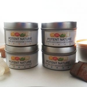 4 Elements Soy Massage Candles Package