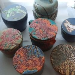 Unique, handmade ceramic jars