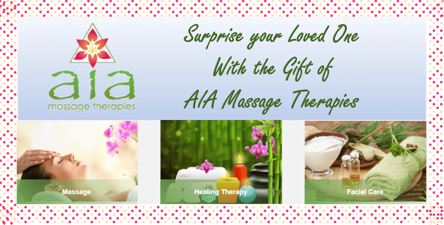AIA Massage Therapies Gift Certificate